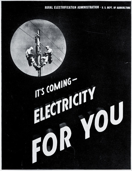 electricity for you REA poster